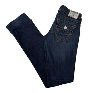True Religion Straight Jeans Crystal Buttons